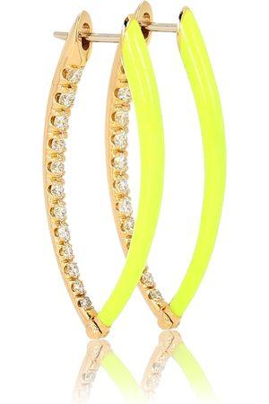Melissa Kaye Cristina 18kt and diamond hoop earrings