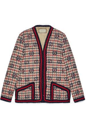 Gucci Women Jackets - GG check tweed jacket