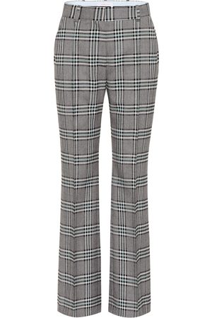 See by Chloé Checked high-rise wide-leg pants