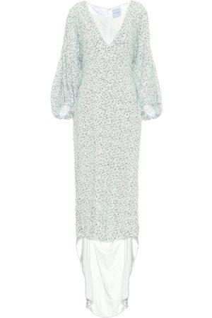 HALPERN Sequined asymmetric dress