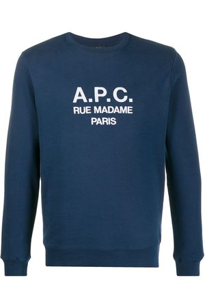 A.P.C. Men Sweatshirts - Embroidered logo sweatshirt