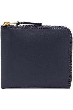 Comme des Garçons Zip-around Leather Wallet - Womens - Navy