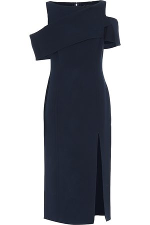 Oscar de la Renta Stretch wool midi dress