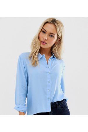 JDY casual cotton shirt-Blue