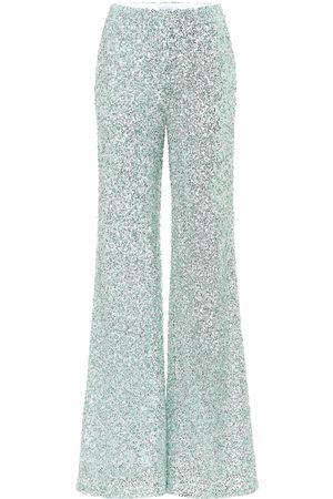 HALPERN Sequined wide-leg pants