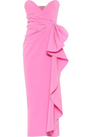 The Attico Strapless stretch-wool strapless gown