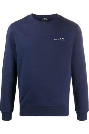 A.P.C. Item logo-print cotton sweatshirt