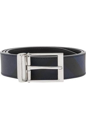 Burberry Men Belts - Reversible London Check belt