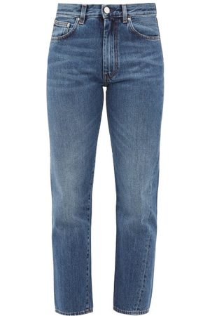 adidas Women Straight - Original Cropped Straight-leg Jeans - Womens - Denim