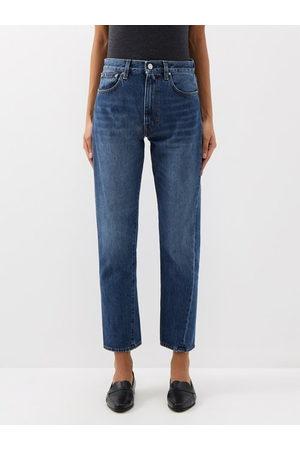 Totême Original Cropped Slim-fit Jeans - Womens - Denim