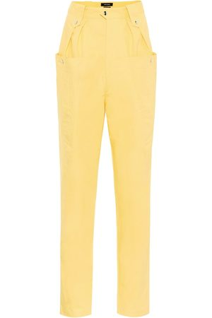 Isabel Marant Yerris high-rise cotton carrot pants
