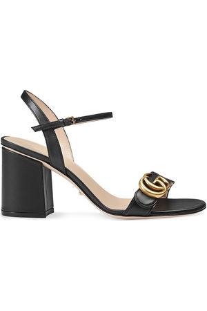 Gucci Women Sandals - Logo-embellished leather sandal