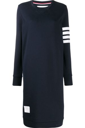 Thom Browne Women Sweatshirts - 4-Bar loopback sweatshirt dress
