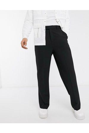 ASOS Wide leg smart pants in black
