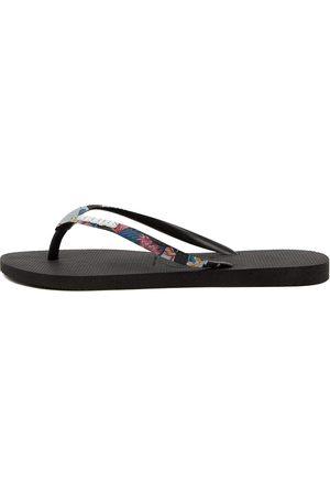 Havaianas Slim Metal Logo Prints Hv Rose Sandals Womens Shoes Casual Sandals Flat Sandals