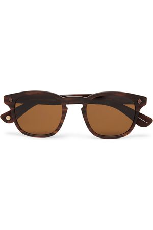 Garrett Leight California Optical Men Sunglasses - Ace 47 Square-frame Tortoiseshell Acetate Sunglasses