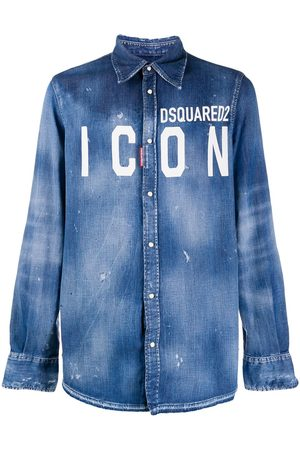 Dsquared2 ICON logo denim shirt