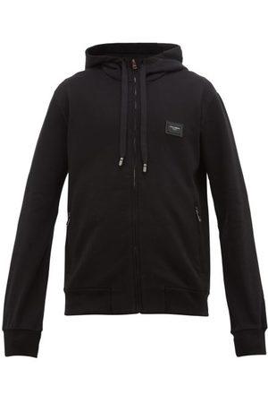 Dolce & Gabbana Men Hoodies - Logo-plaque Cotton-jersey Hooded Sweatshirt - Mens