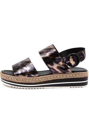 Django & Juliette Atha Ocelot Sandals Womens Shoes Casual Sandals Flat Sandals