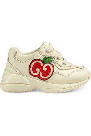 Gucci Kids GG apple print Rhyton sneakers