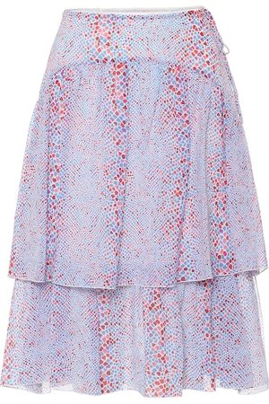 See by Chloé Printed cotton and silk midi skirt