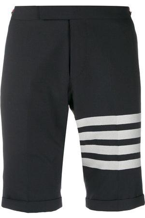 Thom Browne Men Bermudas - 4-Bar plain weave suiting shorts