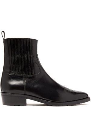 TOGA VIRILIS Topstitched Leather Chelsea Boots - Mens