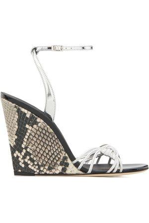 Giuseppe Zanotti Women Wedges - Snake-effect wedge sandals