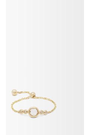 Anissa Kermiche Women Rings - April Diamond, Clear Quartz & Gold Chain Ring - Womens - Clear