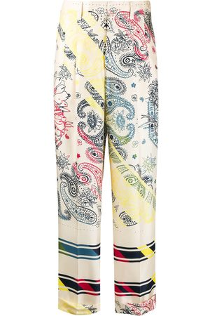 Golden Goose Paisley print straight leg trousers