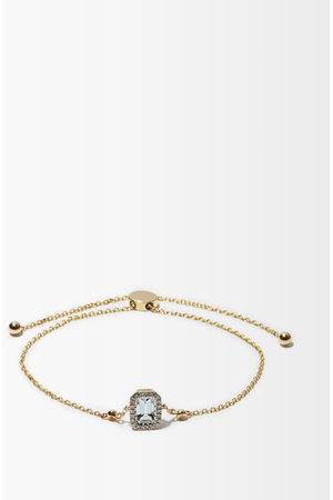 Anissa Kermiche March Diamond, Aquamarine & 14kt Gold Bracelet - Womens - Light