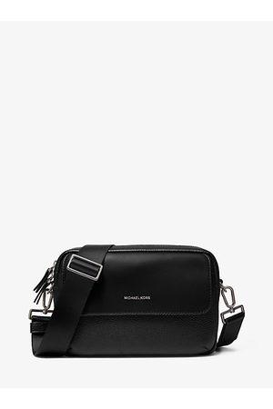 Michael Kors MK Hudson Pebbled Leather Crossbody Bag - - Michael Kors