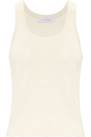 RYAN ROCHE Stretch-knit tank top
