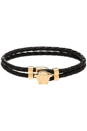 VERSACE Medusa head-embellished leather bracelet
