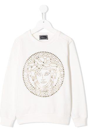 VERSACE Studded Medusa logo sweatshirt