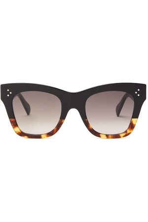 Céline Gradient Square Acetate Sunglasses - Womens