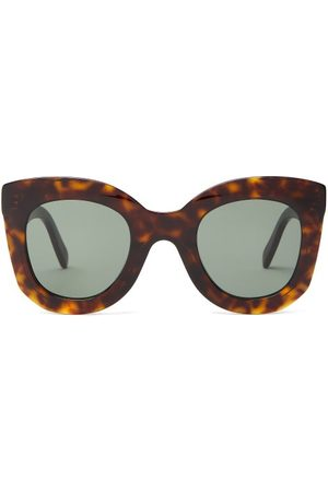 Céline Oversized Round Tortoise-acetate Sunglasses - Womens - Tortoiseshell