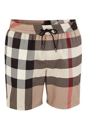 Burberry Men Board Shorts - Check Drawcord Swim Shorts