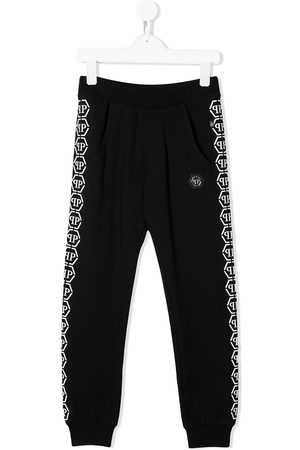 Philipp Plein Logo tape track trousers