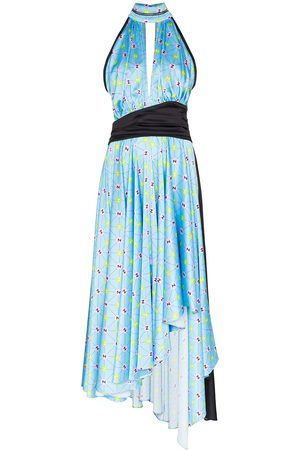 Natasha Zinko Printed halterneck dress