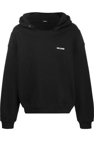 We11done Name tag logo hoodie