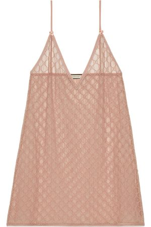 Gucci Women Party Dresses - GG tulle lingerie dress