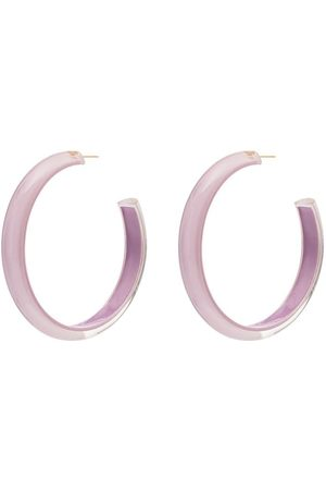 ALISON LOU Loucite medium jelly hoop earrings