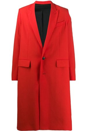 Ami Men Coats - Men Lined Two Buttons Long Coat