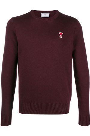 Ami Paris Men Sweaters - Men Crewneck Sweater Ami De Coeur Patch