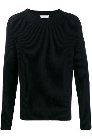 Ami Men Sweatshirts - Ribbed crew neck knitted jumper