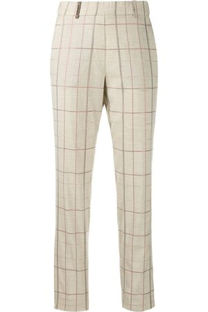 Peserico Checked straight trousers