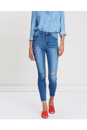Silent Theory The Vice High Skinny Jeans - High-Waisted ( Dime Slash) The Vice High Skinny Jeans