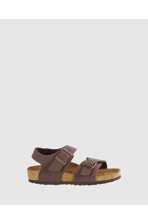 Birkenstock New York Narrow Kids - Sandals (Mocha) New York Narrow Kids