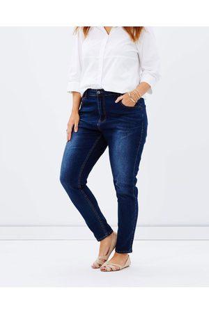 Love Your Wardrobe Dark Wash Jeans - Tapered (Indigo) Dark Wash Jeans